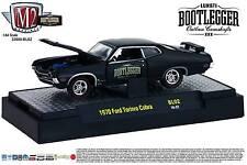 1:64 M2 Machines BOOTLEGGER BL02 = Black 1970 Ford Torino Cobra *NIB*