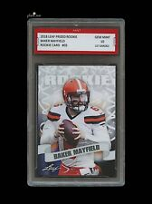 170b1c96c2b BAKER MAYFIELD 2018    18 LEAF PRIZED ROOKIE CARD 1ST GRADED 10 CLEVELAND  BROWNS