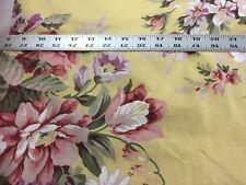 Ralph Lauren Roses Yellow SOPHIE Brooke Cotton Fabric 34 X 75 Inches 21699