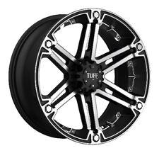 -1 TUFF AT GM Truck SUV Wheel Rim T01 Flat Blk W|Machined And Chrome 20x9|6x5.5