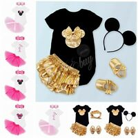 Minnie Mouse Baby Girl Romper T-Shirt Top Skirt Dress Costume Kid Outfit Clothes