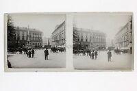 Ville A Identificare Francia? Placca Lente Stereo Vintage Positivo 6x13cm