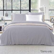 Giselle Bedding Luxury Classic Duvet Doona Quilt Cover Set Hotel Super King Grey