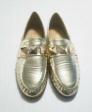 Catherine Malandrino Metallic Gold Loafer Sz 7.5