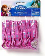 Frozen Disney Movie Princess Arendelle Kids Birthday Party Favor Charm Necklaces