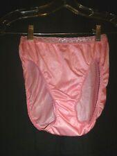 Vintage NOS PINK Soft Hi Cut Shimmer Nylon Panty Lace