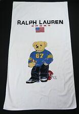 Rare Vintage RALPH LAUREN Polo Sport Football Bear Towel 90s 2000s Stadium Retro