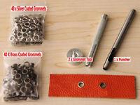 3.5MM Grommet Installation Setting Tool Kit Set +80 Eyelets+ Leather Hole Punch