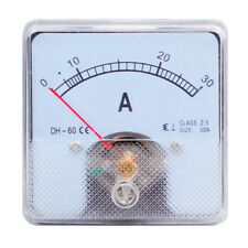 1PC Class 2.5 Analog Panel AMP Current Meter AC 0-30A Ammeter DH-60 60*60