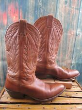 Ladies Nocona Brown Leather Cowboy Western Boots sz: 9 B