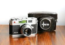 PETRI  2.8  Orikkor, 35mm Leica Style Rangefinder Camera   w/ Case   ,Japan Made