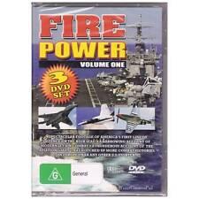DVD FIREPOWER VOL 1 JET AIR COMBAT MILITARY WAR 3x DVD SET FIRE POWER PAL [BNS]