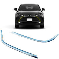 Chrome Front Center Grille Side Grill Cover For Toyota Harrier Venza XU80 20-21