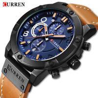 CURREN Watch Men Casual Sports Watches Chronograph Waterproof  Quartz Wristwatch