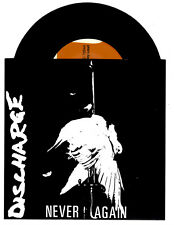 discharge never again 7 inch havoc records reissue
