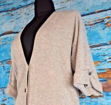 Sutton Women's Cashmere Cardigan Sweater Size Medium Short Sleeve Warm Casual
