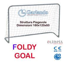 "GARLANDO - PORTA DA CALCIO "" FOLDY GOAL "" - 180x120x60 cm PIEGHEVOLE SalvaSpazio"