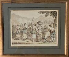 Bartolomeo Pinelli -  Old Master Drawing LA VENDEMMIA (The Harvest)
