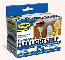 "24"" LED Flex Light Strip Super Bright Stick Pantries Drawers Shelve Car Cabinet"
