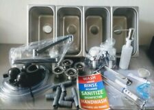 Portable Concession Sink 4 Compartment Standard Kit Amp Drain Traps Plumbing Kit