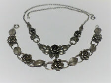 Collier mit passendem Armband in 925 Sterling Silber