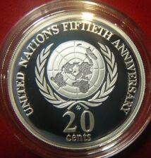 1998 Australia 20c proof ex Masterpieces in Silver Set - United Nations 20c