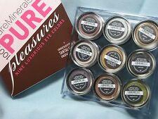 BARE ESCENTUALS bareMinerals * PURE PLEASURES * 9pc Eyecolor Set $99 ~ New Boxed