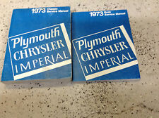 1973 Chrysler Imperial Plymouth Barracuda Roadrunner Service Shop Manual Set OEM