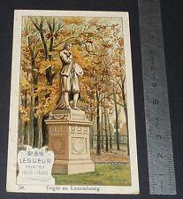 CHROMO CHOCOLAT DE ROYAT 1910-1914 STATUE LESUEUR LUXEMBOURG PARIS PEINTRE