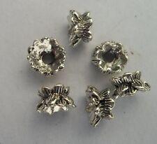 50pcs  Tibet silver lotus Flower End Beads Caps  9x5 mm