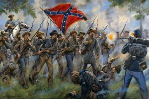 Mark Maritato Signed Civil War Art Print Proctor's Creek 2nd Drewry's Bluff19x13