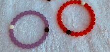 3 set of Loki's Bracelets, Purple and red size small new without tags real