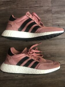 Adidas BOOST Iniki Runner Running Shoes Women Sz 5.5 Pink Boost Nmd BY9095