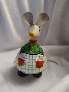 Whimsical FolkArt Country Mouse hand painted Metal Art. India