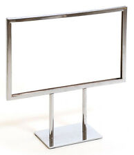 """Countertop Metal Signs Display Holder Stand Chrome 11""""W x 8-1/2""""H Lot of 25 New"""