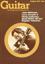 GUITAR MAGAZINE Vol 6 No 1 August 1977 Larry Coryell Blind Willie Mc Tell John