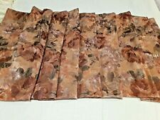 "1 to 6 Valances  JC Penny  Formal Floral  Tan, Gold, Rust, Green  78"" X 18"" MINT"