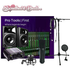 NEW Pro Tools First Home recording studio bundle package M-Audio Mic Speakers