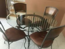 Kitchen set, made in Italy, Nail heads, Seats leather and handmade