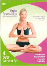 Yoga: Foundations Daily Workouts on 4 DVDs-BRAND NEW AND STILL SEALED-HEALTH