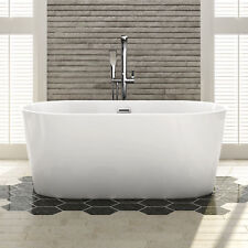 "Bathroom Acrylic Standing Bath Tub ""thin Edge"" 1500x800x600 Freestanding"