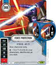 1x Force Protection x1 Star Wars: Destiny with Dice Rare SWD