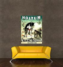 GIANT PRINT POSTER CIRCUS STRONG MAN CANNONBALL JOHN HOLTUM FRANCE PDC162