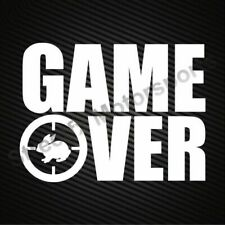 GAME OVER hunting decal