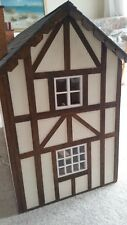 Immaculate Vintage Dolls House Tudor Style, Contents Furniture Handcrafted 12v.