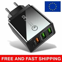 PD + 3 USB Fast Qualcomm Quick Charge QC 3.0 USB Hub Wall Charger Adapter
