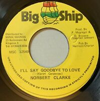 Norbert Clarke - I'll Say Goodbye To Love 45 Big Ship Reggae Lovers Rock VG+ mp3