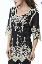Womens Braid & Sequin Tunic Top,Size22/24,SIMPLY COUTURE DESIGNER,BNWT,RRP£57.99
