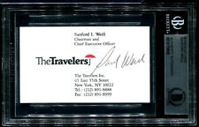 SIGNED BUSINESS CARD, SANFORD WEILL, FOUNDER AND CHAIRMAN OF CITIGROUP