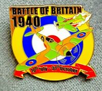 Battle of Britain 1940 Spitfire  Enamel pin badge POPPY DAY 80th Anniversary UK